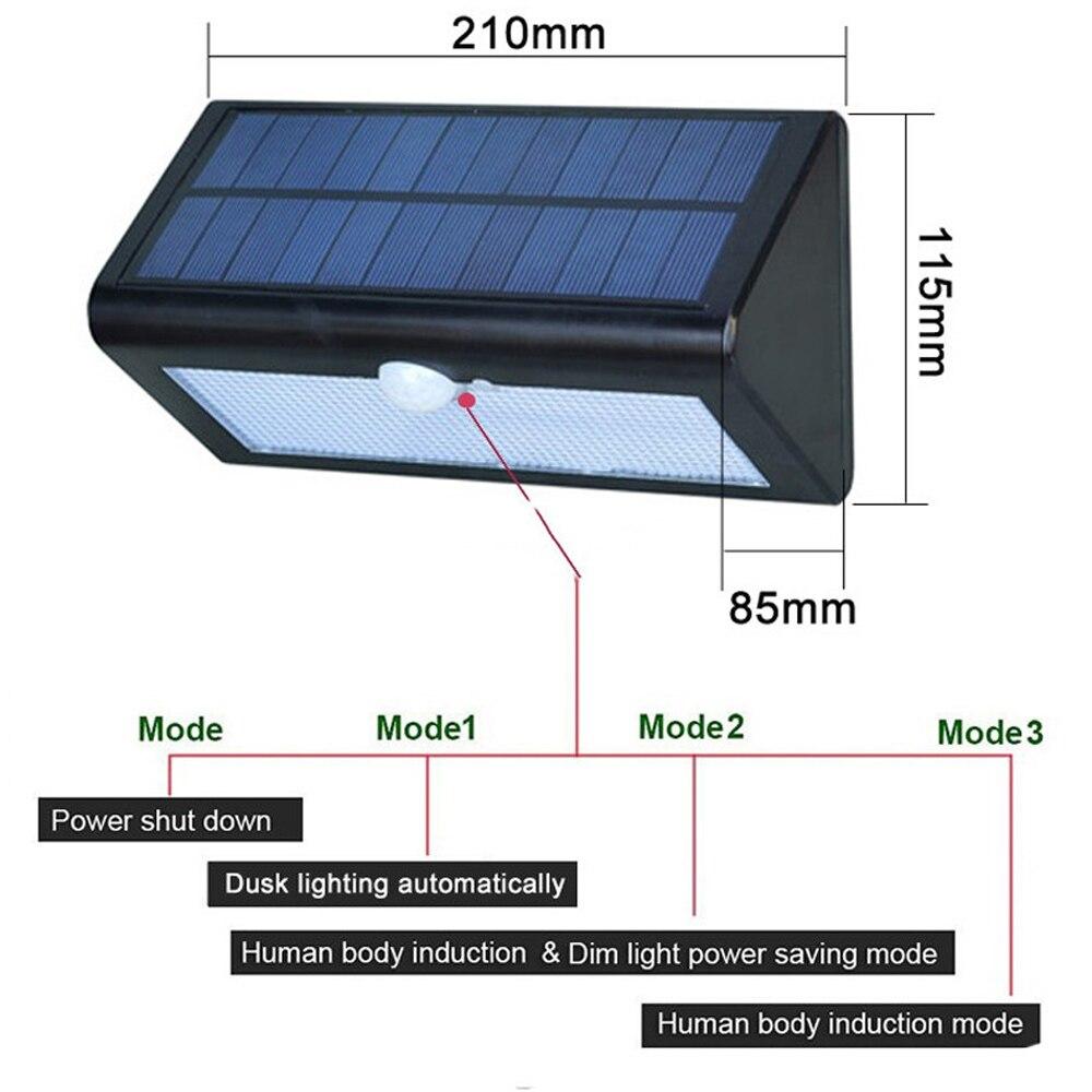 38leds 3in1 solar sensor de movimento luz solar caminho luz jardim ao ar livre lampada solar lâmpada do jardim
