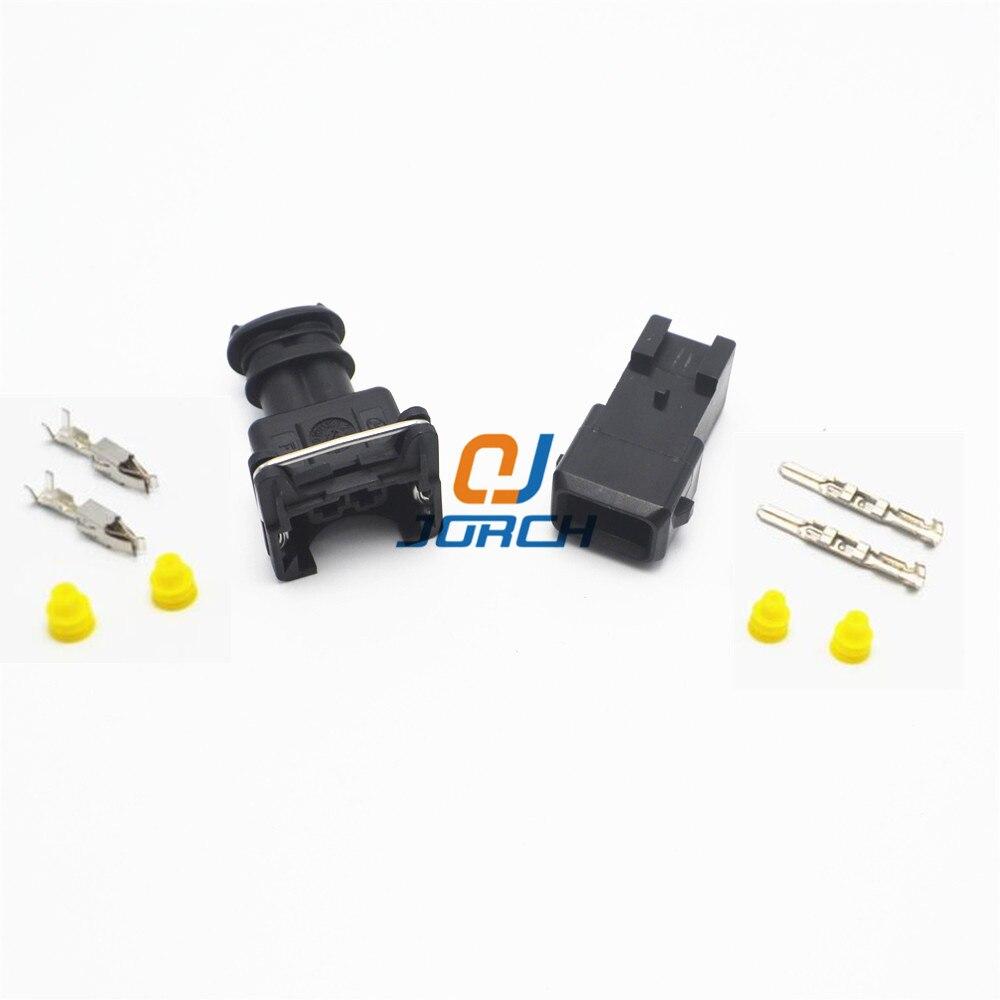 10 juegos de 2 pines EV1 enchufe para inyector de combustible coche impermeable Tyco kits de conectores de cable eléctrico 282762-1 282762-7