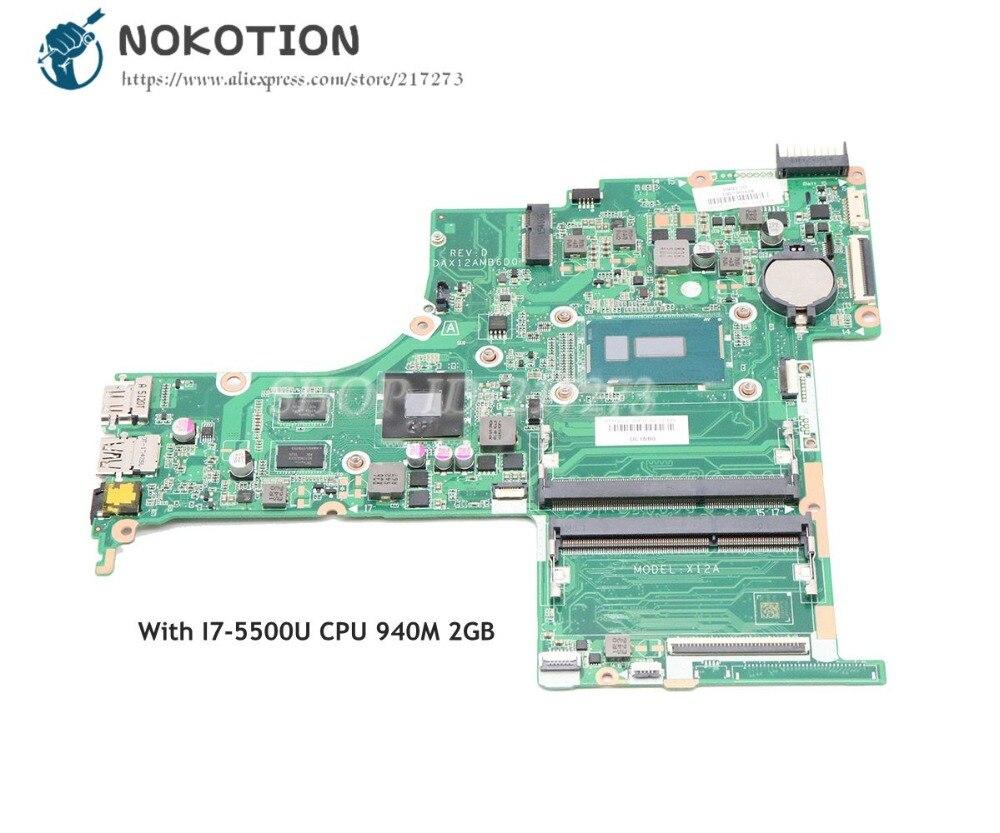 NOKOTION 809045-601 809045-001 لإتش بي جناح 15-AB اللوحة المحمول DAX12AMB6D0 SR23W I7-5500U وحدة المعالجة المركزية 940M 2GB