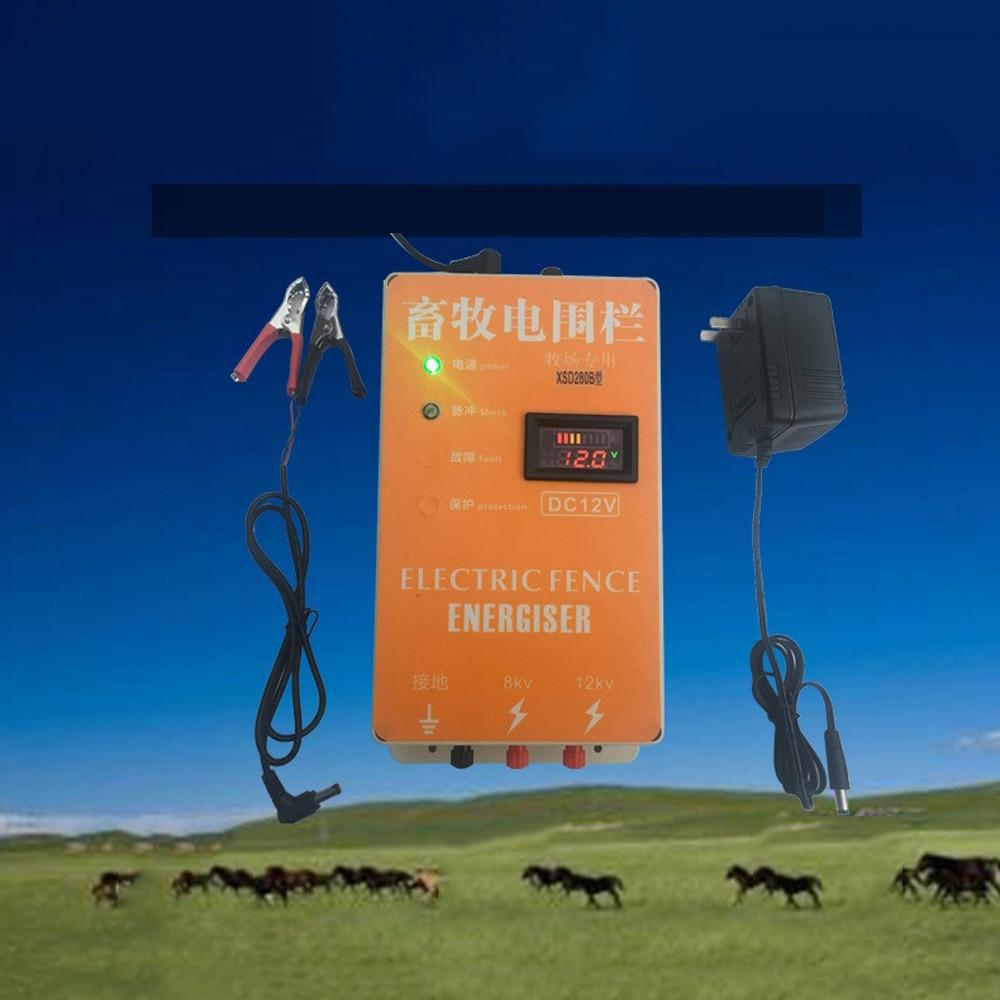 20 كجم سياج الطاقة الشمسية الكهربائية إنرجايزر الحيوان الراكون الأغنام الحصان الماشية مزرعة الدواجن الكهربائية المبارزة الراعي شاحن المراق...