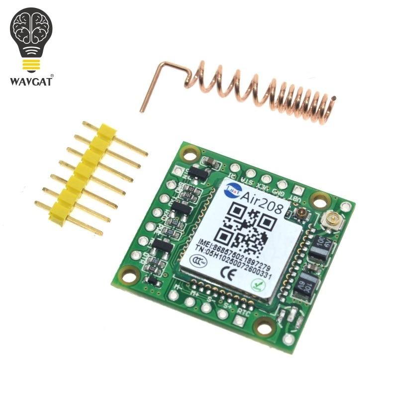 WAVGAT Smallest GPRS GSM Module Air208 Micro SIM Card Core BOard Quad-band TTL Serial Port compatible SIM800L SIM800C