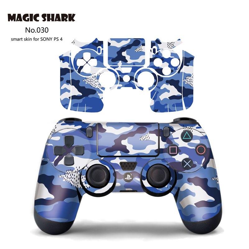 Funda con adhesivo del ejército militar Magic Shark para mando PS4 adhesivos para Sony PlayStation4 para PS4 Pro Sticker 028-037