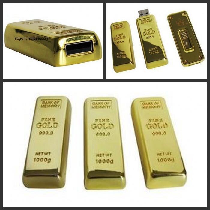 Gold Bar Man Gift Usb Flash Drive 3.0 Cle Usb Creativo Memory Stick Pendrive 64GB 32GB 16GB 128GB Pen Drive 1TB 2TB Disk On Key