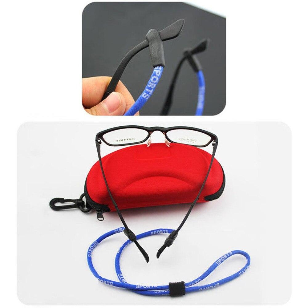4 Color gafas elástico cordón ajustable gafas cordones cuello cable cadena retenedor Correa Banda de cabeza gafas cuerda 122