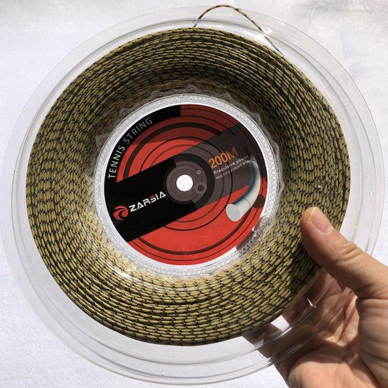 1 carrete ZARSIA spinning tennis string filamento Flash nylon suave alta elástica raqueta de tenis cuerdas 200m carrete grande