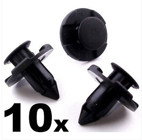 10x8mm Para Forro Plástico Rivet Cortar Clipes para Bumpers Splashguards Wheelarch