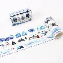 4 Pcs/Lot Ice World snowman Snow scene washi tape diy decoration for scrapbooking masking tape adhesive tape