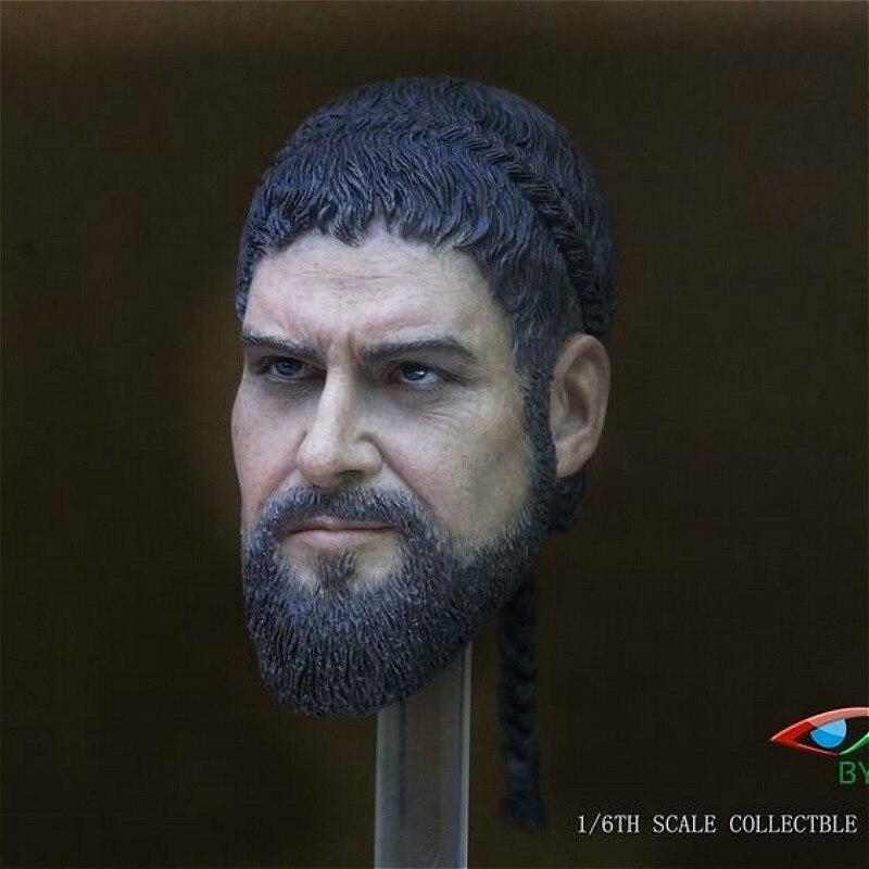 Estartek BY-ART 1/6 Spartan Warrior 300 zestaw do rzeźbienia głowy na 12 cali figurka DIY