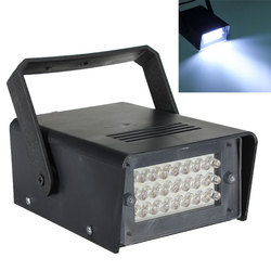 5 Вт 24 светодиодный сценический свет управляемый DJ стробоскоп вечерние дискотеки KTV стробоскоп белые сценические световые эффекты US/EU вилка AC220V
