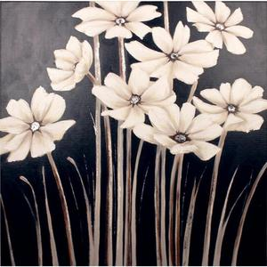 Abstract Flower canvas painting White Daisies Floral modern art oil paintings for living room Handmade wall decor High quality