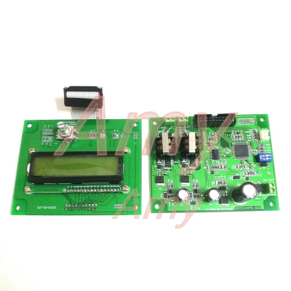 Panel de control de soldadura por puntos de la batería, 16 control de microordenador de un solo chip, 1602 LCD, controlador SCR de doble pulsación del codificador sin módulo