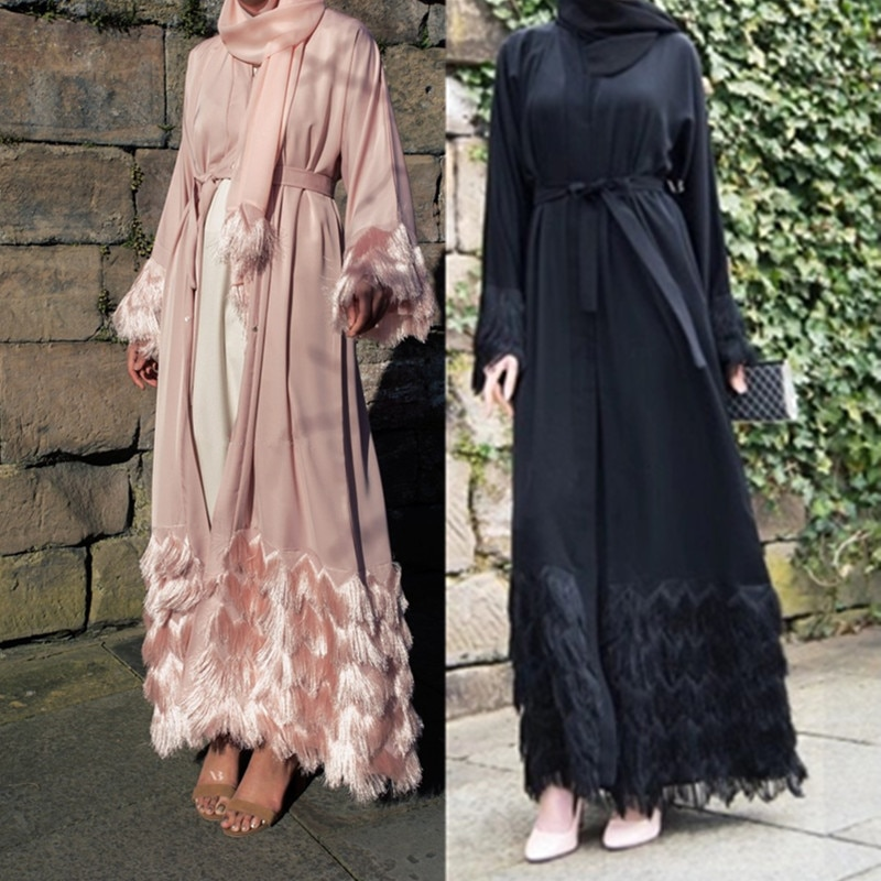 عباية-فستان طويل من الدانتيل التركي ، قماش سميك ، أكمام دانتيل ، جلباب دبي ، توصيل مباشر ، wq1333