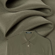 Tissu couleur unie en soie pure   Haut, chemise, robe, gilet, artisanal par cour, lisse et doux, en crêpe de chine