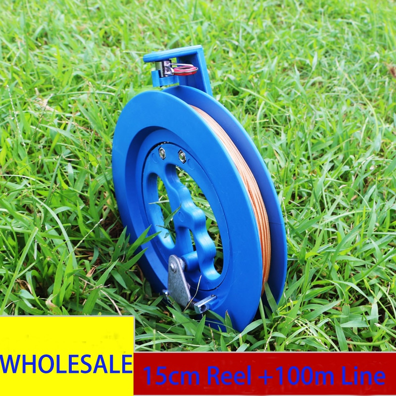 free shipping Hot sell 15cm Kite reel with 100m kite line 18cm reel 200m Child kite handle so comfor