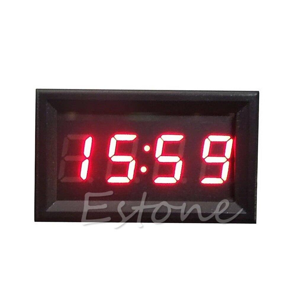 מכירה לוהטת Led תצוגה דיגיטלי שעון 12 v/24 v לוח מחוונים רכב אופנוע אבזר 1 מחשב זרוק חינם