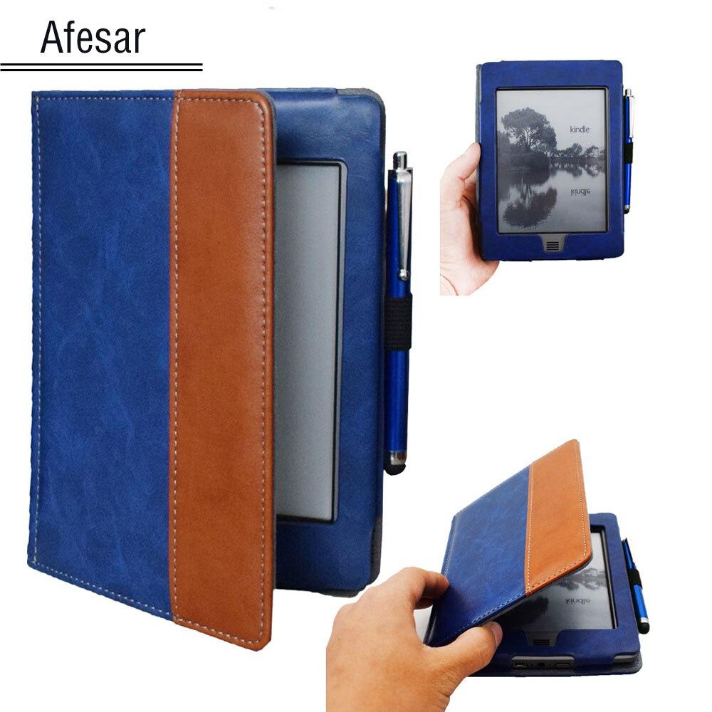 Para kindle touch (2012 modelo antigo) d01200 flip book capa caso-bonito caso bolsa para amazon kindle touch 2011 modelo capa + caneta