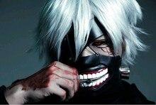 Cosplay Tokyo Ghoul 2 Kaneki Ken Maske Verstellbar Zipper Prop Masken Gummi 3D Solide Kühlen Maske Blinder Anime Drop Schiff