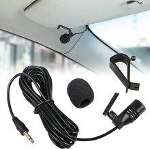 Araba ses mikrofon 3.5mm klip Jack tak mikrofon stereo Mini kablolu harici mikrofon oto DVD radyo için 3m uzun profesyoneller