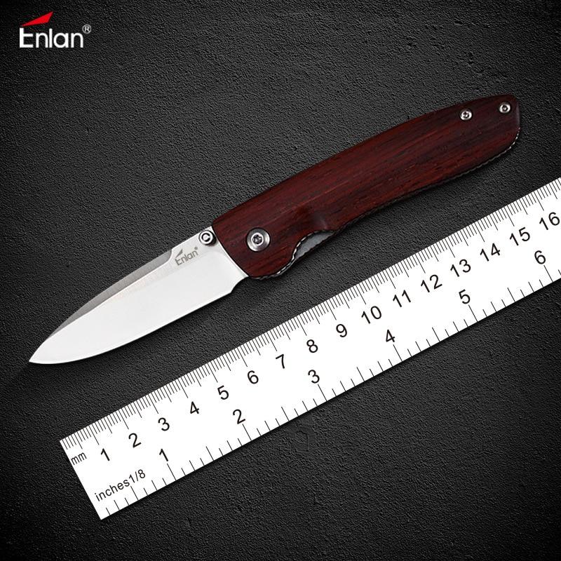 Enlan M028 8Cr13Mov лезвие с деревянной ручкой складной нож маленький Открытый Отдых на природе Охота многофункциональный брелок EDC резьба по дереву инструменты
