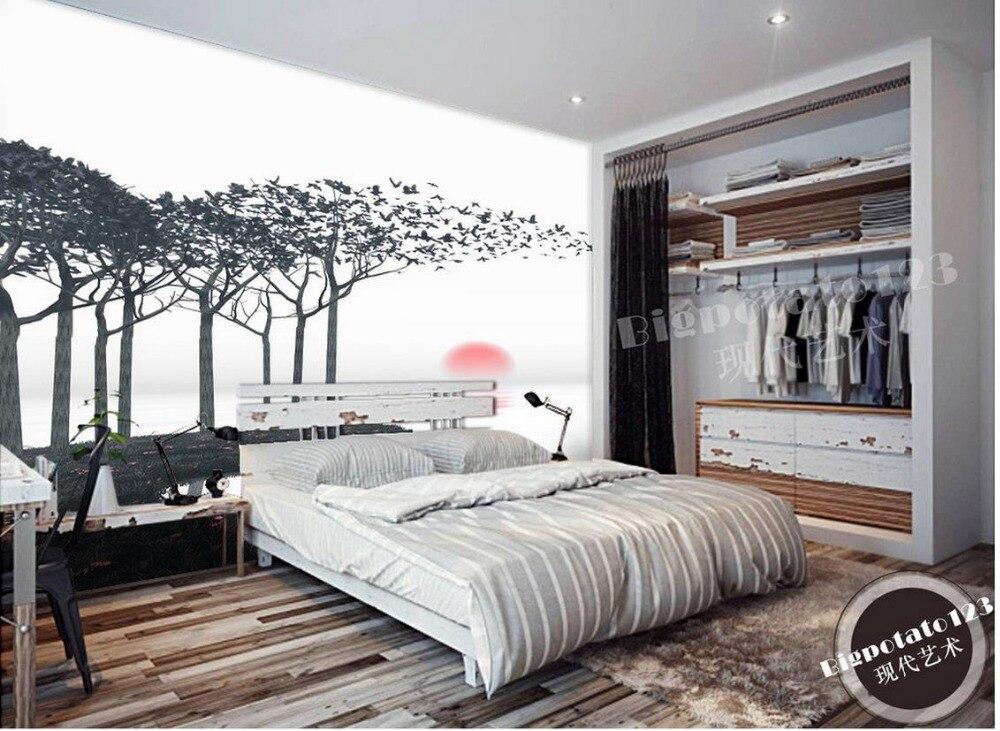 Fantasy landscape abstract tree tree 3d murals wallpaper for living room Landscape wallpaper murals