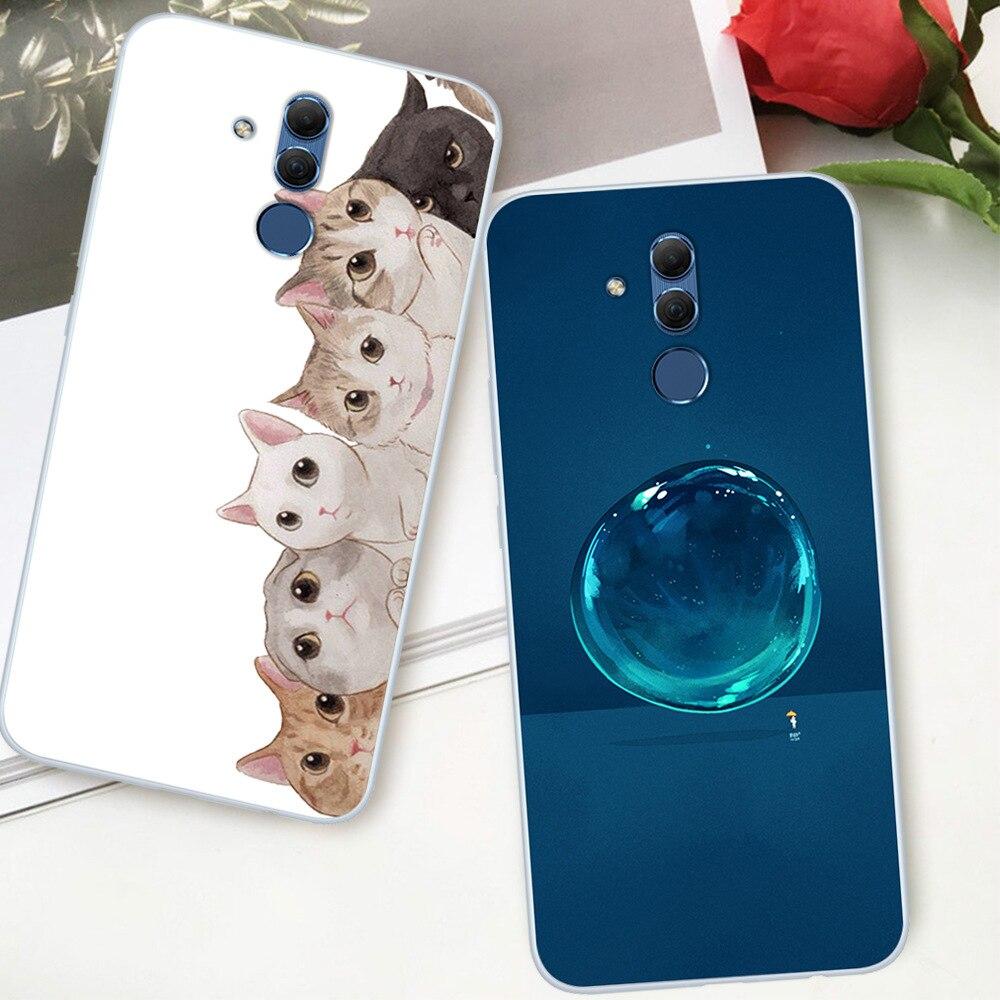 Fashion Cute Cartoon Animals Phone Case For Huawei Mate 20 lite Painted Phone Case For Huawei Soft S