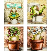 5d diy square diamond paintings animal frogs pattern diamond embroidery cross stitch full round diamond mosaic home decoration