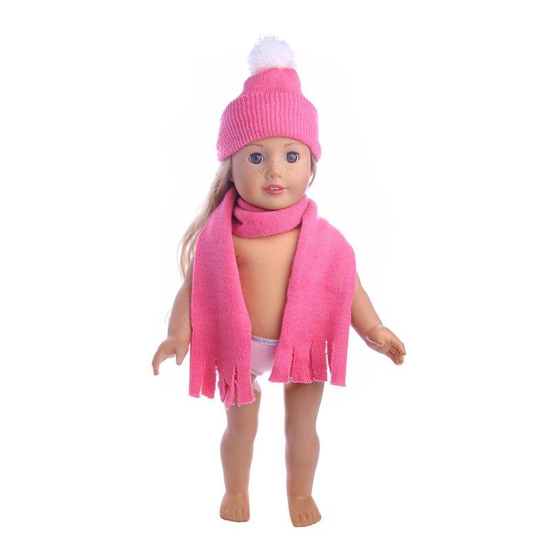 Accesorios para ropa de muñeca, sombrero bonito, bufanda, ajuste de 18 pulgadas, muñeca americana y 43 Cm, muñeca bebé recién nacido para generación, juguete, regalo de Navidad