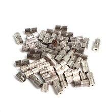 50 sztuk rod śruby klamrami dla naszyjnik bransoletka tworzenia biżuterii złącze DIy ustalenia Cylinder 7mm x 3mm liny Cap klamra zamknięcie