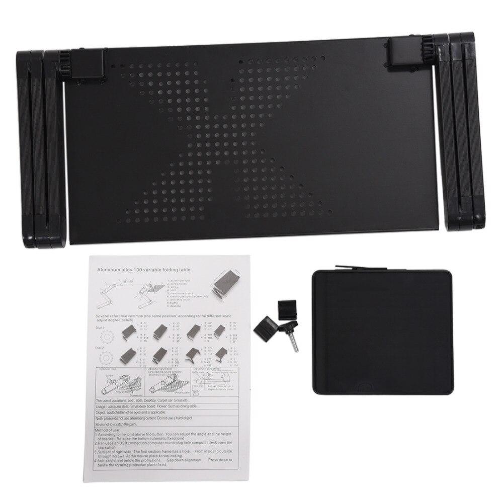 Tragbare Faltbare Einstellbare Laptop Schreibtisch Computer Tisch Stand Tablett Für Sofa Bett Schwarz