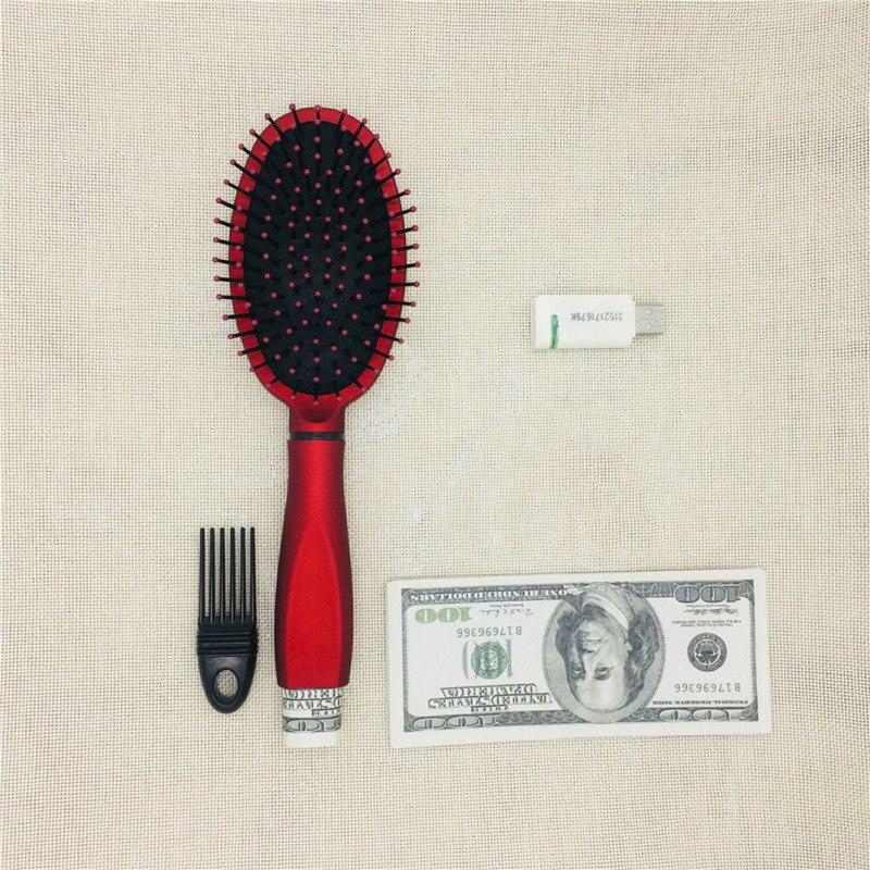 Caja de almacenamiento secreta de brochas de pelo seguro, peine Almacenamiento funcional múltiples, seguridad oculta, objetos de valor, contenedor hueco, almacenamiento para el hogar