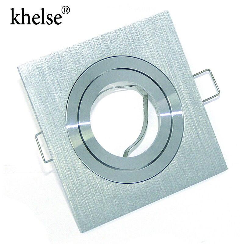 Современный алюминиевый Встраиваемый прожектор монтажная рамка MR16 / GU10 розетка Регулируемая потолочная арматура отверстие лампа осветительная арматура