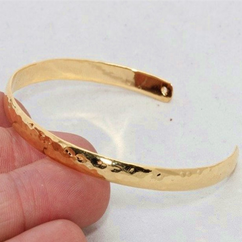Brazalete chapado en oro de 24-K de latón crudo, brazalete. (sin níquel y sin plomo) CHK224. CHK309.CHK169-2.CHK289-2