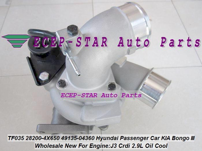 Envío Gratis Turbo TF035HM 28200-4X650 49135-04360 49135 04360 para coche de pasajeros Hyundai para camión KIA Bongo III J3 Crdi 2.9L aceite