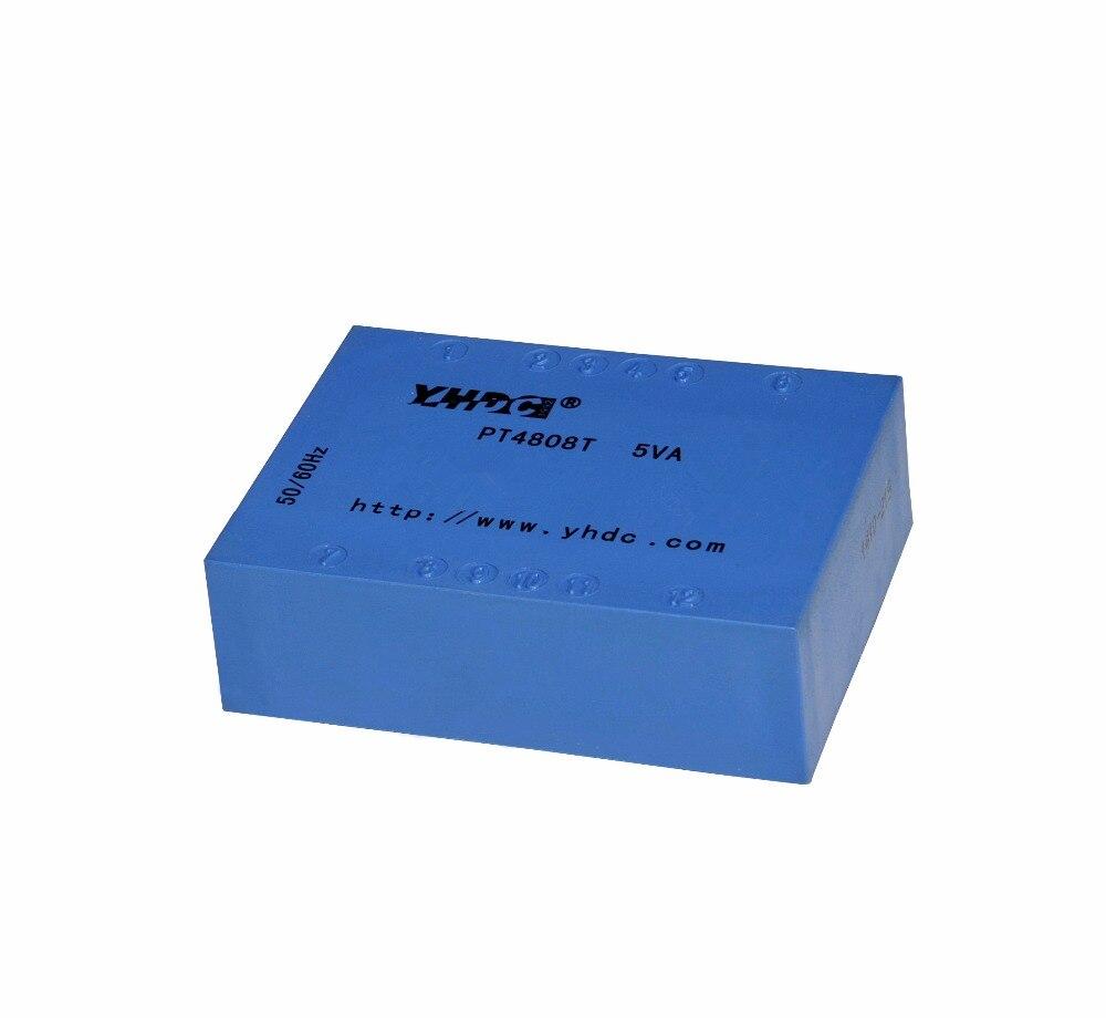 YHDC PT4808T 5VA/2*110 V/2*6 V tipo flat siolation selado transformador de potência do transformador