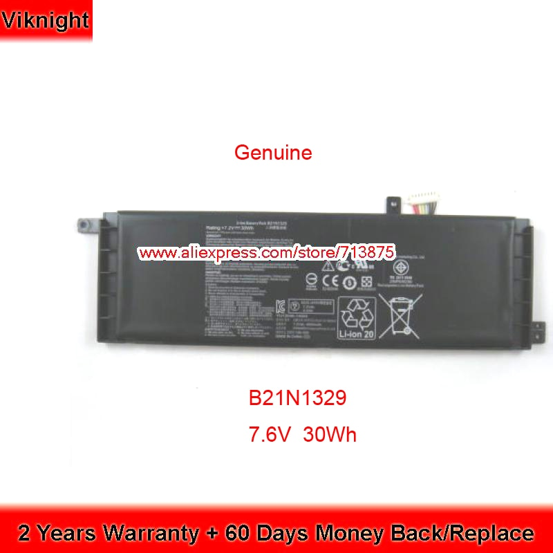 Genuino 7,6 V 30Wh B21N1329 batería de portátil para Asus X553M X553MA X453 F553M R515m