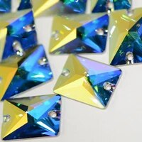 crystal ab sewing rhinestones 6a strass rectangle baguette sew on crystal holes glass rhinestone for garment clothing