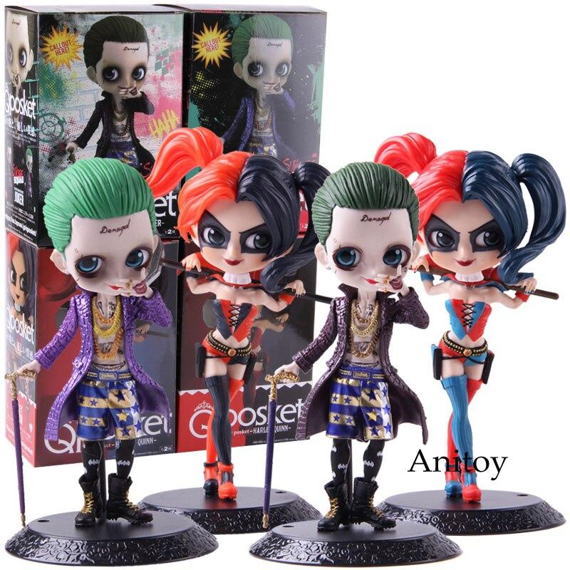 Q Posket suicidio escuadrón Joker figura de Harley Quinn de acción   PVC figuras de acción juguete de modelos coleccionables QPosket muñeca