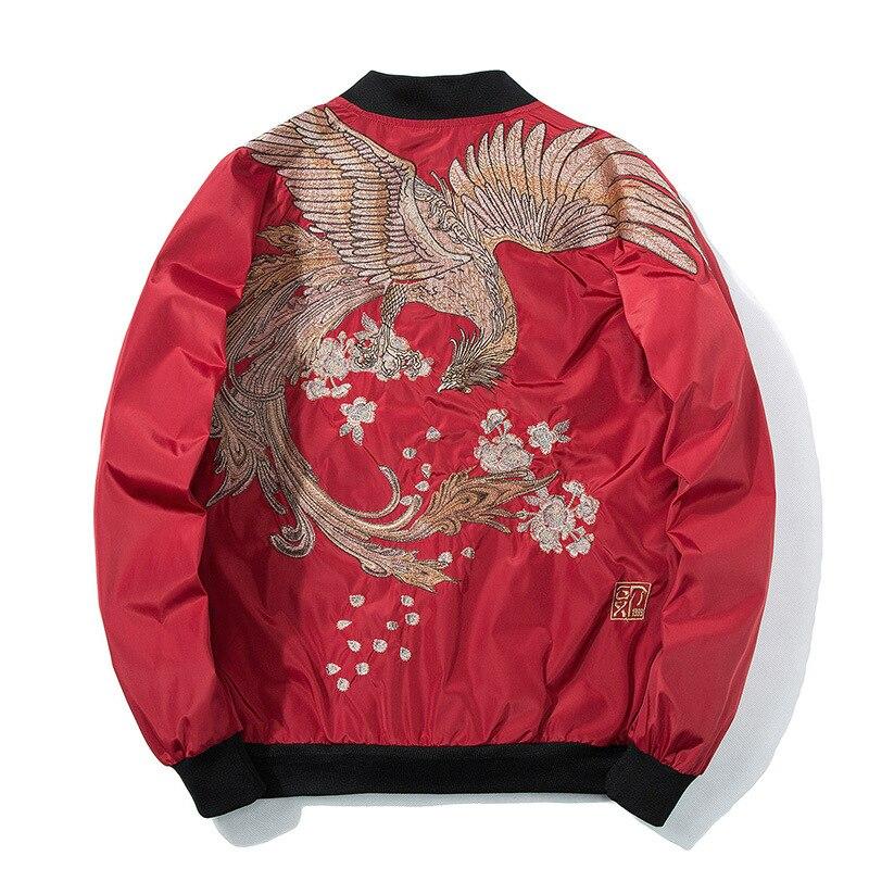 Phoenix Embroidery Jacket Coat Plus Casual Outwear Hip Hop Bomber Jackets XS-XXX Women Men Unisex Spring Yokosuka High Street
