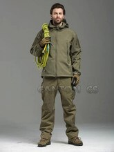Tad v 4.0 Shark Skin Softshell Outdoors Camping Jacket Set Tactical Military Camouflage Hunting Jacket +Pants