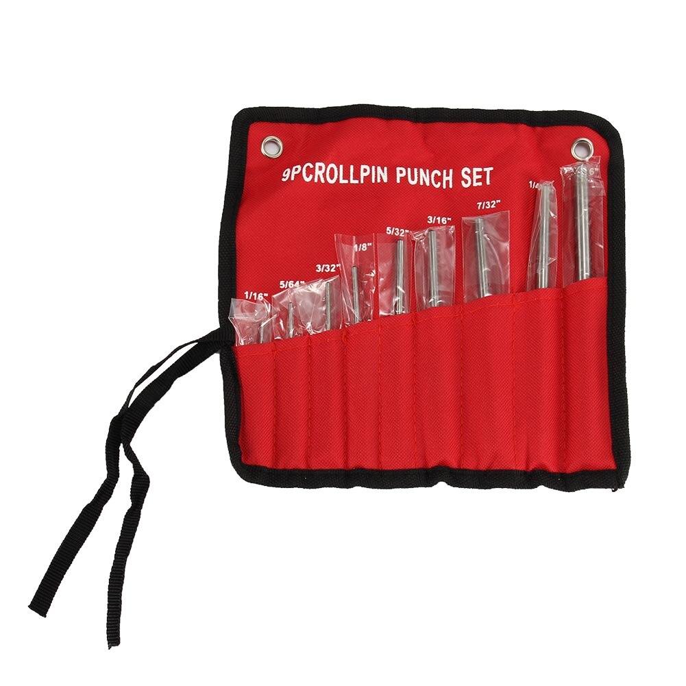 9Pcs rollo Pin ponche herramientas Kit de pistola edificio y eliminar pines AI88