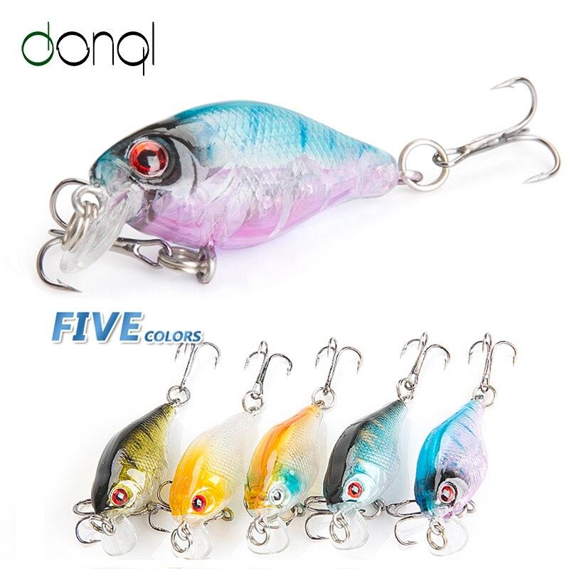 DONQL 5pcs/lot Minnow Wobblers Fishing Lure 4g 4cm Crankbait Artificial Hard Swim bait With Sharp Hooks Carp Pesca Tackle