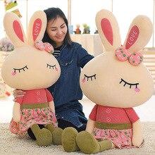 46cm Metoo joli lapin petit lapin jouets en peluche petits animaux en peluche de mariage saint valentin cadeau créatif jupe poupée marionnette