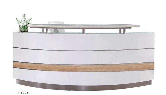 Comercial moderno escritório piso de madeira recepção executivo computador mesa design móveis para venda # qt2210a