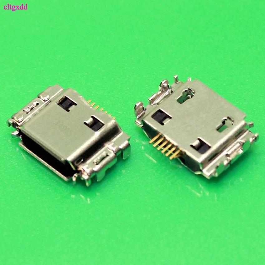 clgxdd 10pcs Micro USB Jack Connector Female 7 pin Charging Socket For samsung I9000 S8000 S5630C S5620 S5660 I8910 I9003 I9008