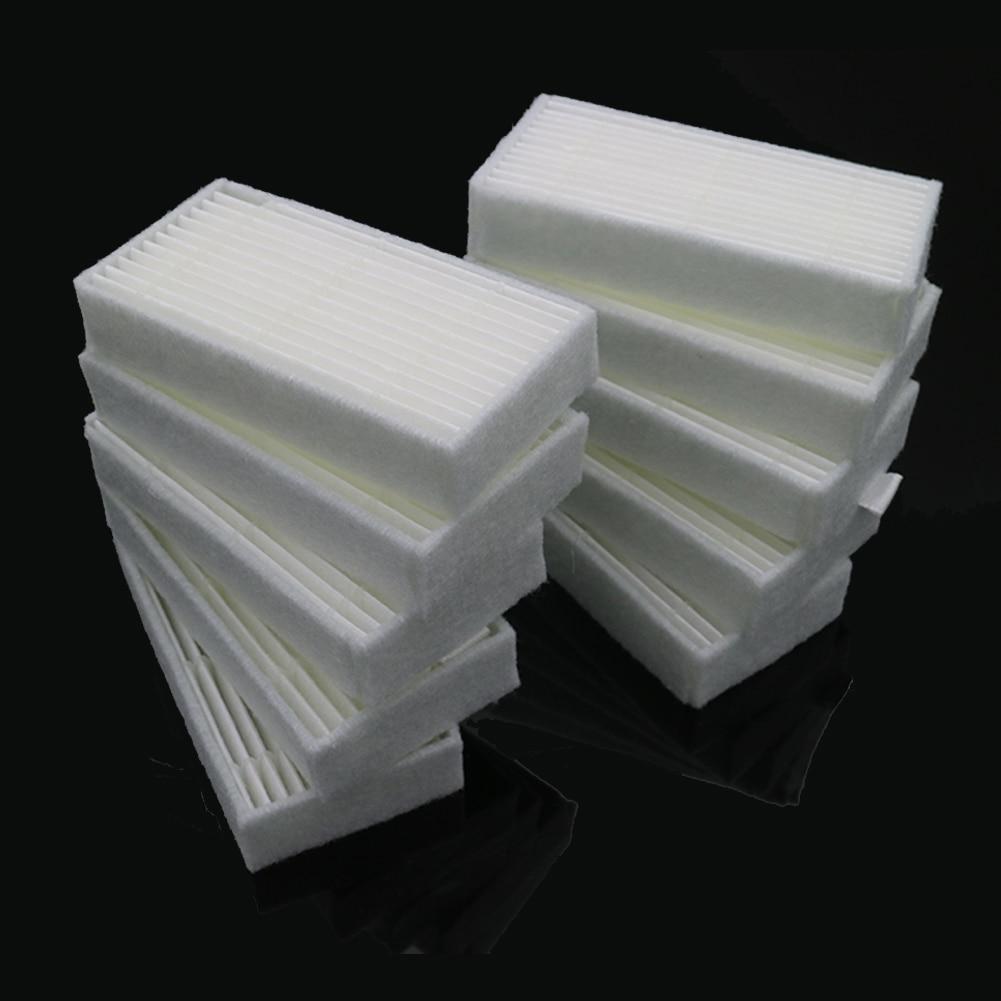10 unids/lote piezas de robot aspirador reemplazo de filtro HEPA para Panda x500 para Haier T322... GUTREND alegría 90 para FUN110