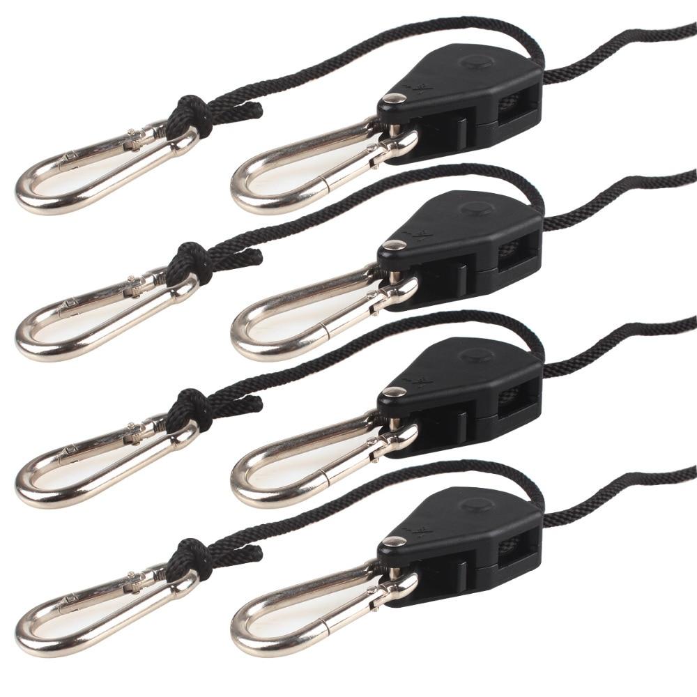 Growsun  Adjustable Heavy Duty Rope Ratchet Hanger Kit For Grow Light