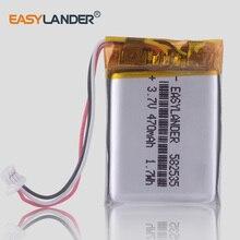 CE ROHS 582535 SP5 3.7V 470mAh Ricaricabile li Batteria ai polimeri di litio Per La navigazione dvr video recorder DVR cubex v50 hp f550g