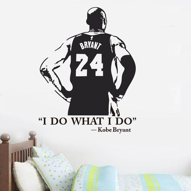 I DO WHAT I DO Kobe Bryant Basketball personaje calcomanía de vinilo para pared decoración del hogar dormitorio chicos habitación adhesivos removibles para pared