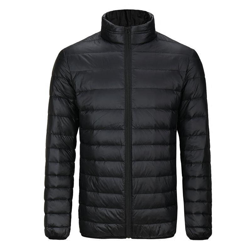 2019 L-7XL chaqueta de invierno para hombres, chaqueta de invierno Ultra ligera 90%, chaqueta de plumón de pato blanco, abrigo de invierno portátil Casual para hombres de talla grande