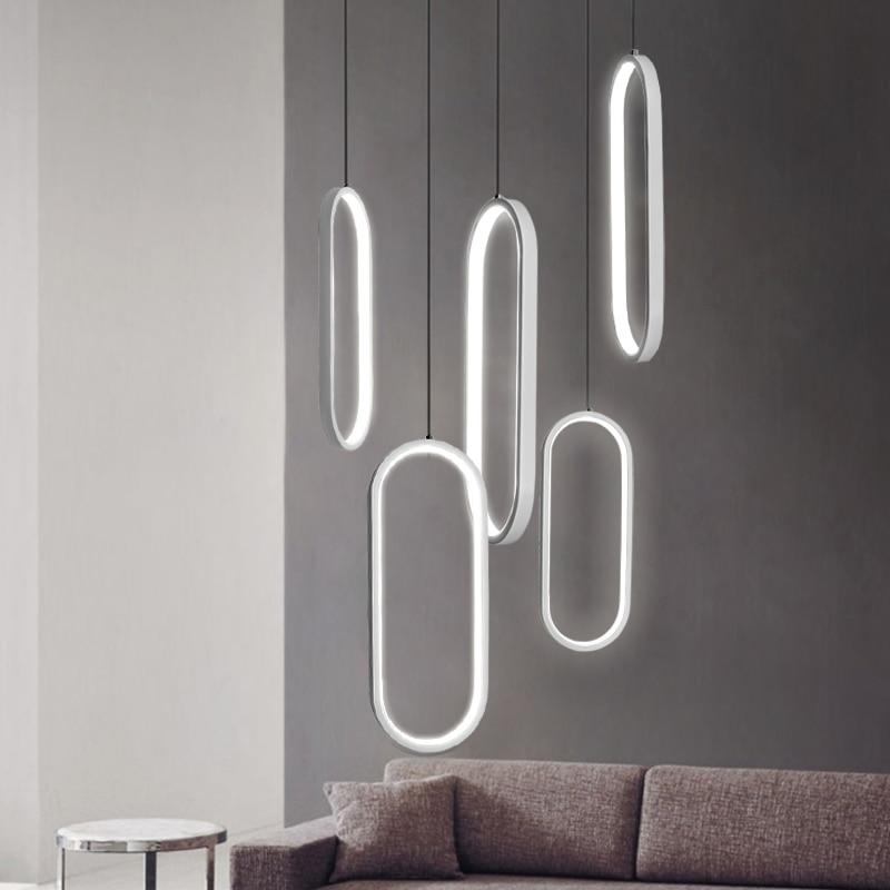 Modern Led Pendant lights for dining room kitchen room bar white/black color hanglamp 110V 220V home deco pendant lamp fixtures